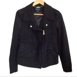 Guess by Marciano Black Wool Coat Small